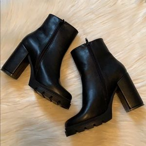 Steve Madden New Vintage Chunky Heeled Ankle Boots